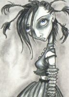 ACEO - Girl With Medusa 'Do by KootiesMom