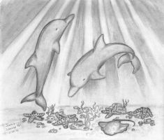 Dolphins by Jiva17