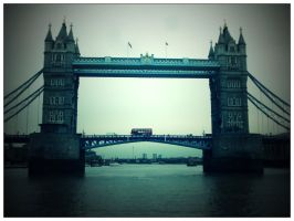London Bus over Tower Bridge by emp350