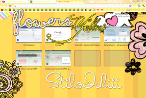 Theme Flower Yellow For Google Chrome by StiloJuliii