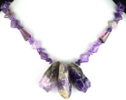Amethyst Nuggets Necklace by SacredJourneyDesigns