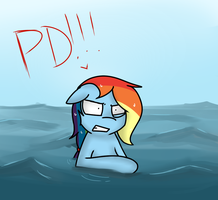 Stuck in water by TheAllyGLaDOS
