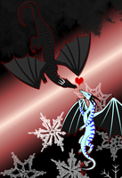 When Opposites Attract -Black Fire + White Ice- by StarLight158