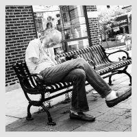Man On A Bench by jonniedee