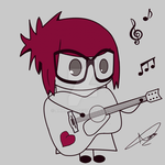 Emo Girl with Guitar by AHamoud