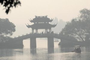 Mist on West Lake 1 by wildplaces