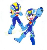 Rockman Exe And R Rockman by ick25
