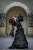 Stock - Black and gold Vampire Queen Faun Demon 42 by S-T-A-R-gazer