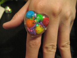 Candy ring by bunnycharms