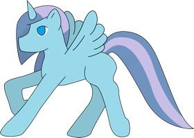 Nameless blue alicorn by CassidyPeterson