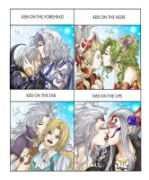 Dissidia Cute kiss meme by Autumn-Sacura