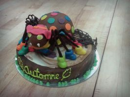 autumn themed spider-cake 2 by Bliss-Box