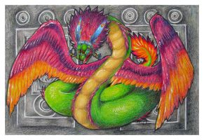 Quetzalcoatl by megillakitty