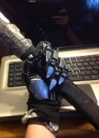MGS4 Raiden Cosplay W.I.P. glove 60% complete by jinxedcynder