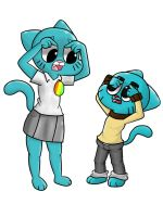 Gumball and Nicole: No more wrinkles by Midnight-Wolfi3
