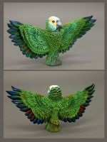 Blue fronted amazon totem by hontor