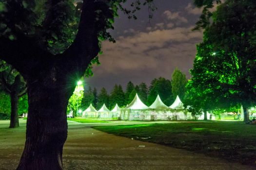 Tents by night by III-HATHOR-III
