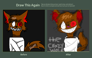 draw this again entry the crazy wolf by shonnythehedgehog