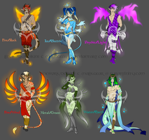 Elemental Demon Paypal Adopts! [CLOSED!] by Megane--Sama