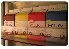 Shelf O' Milky Cartons by kickass-peanut
