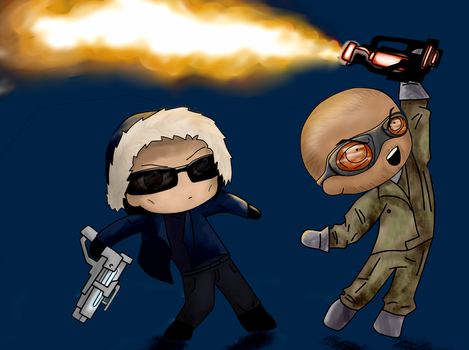 CW Captain Cold and Heatwave by BIazeRod