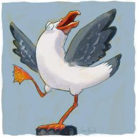 Dancing Seagull by poxel