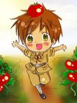 APH - Chibi Spain and Tomatoes by FrauV8