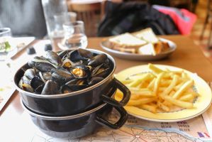 Mussels with fries by patchow