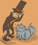 Professor Layton and the Very Lovely Cat by KirstenChocolate