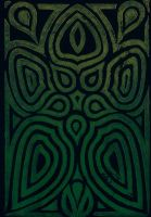 Five Flower Petals (green to gold variation) by VibrantVoid