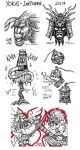 Inktober 2014 - Yokai Compilation by Dark-Emissary
