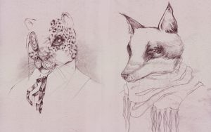 commissioned animal drawings by naomi