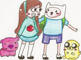 Finn and Mabel by Deryka