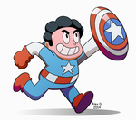Steven Universe as Captain America by Doodley