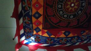 Indian style decor on the ceiling by mylesterlucky7