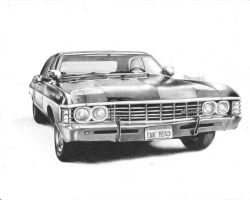 Chevy Impala_Supernatural by MaPaMe