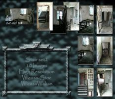 Stair interior set2 by Wicasa-stock