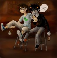 At the Bar with Karkat 1 by LargM