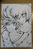 Roxas X Xion (lineart) by alexis360100