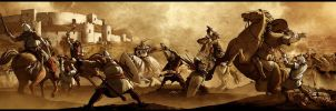 A Battle in sepia by drvce