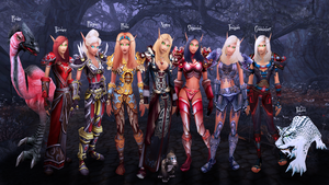 My Blood Elves - Personal Wallpaper by Shyama88