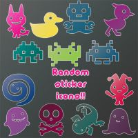 Random sticker icons by looneyloney