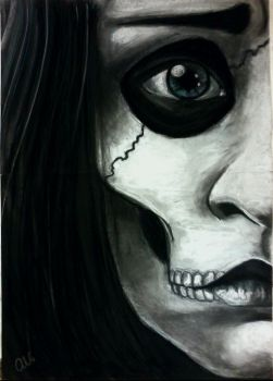 Sadness: Charcoal Close up by RainDropSweet
