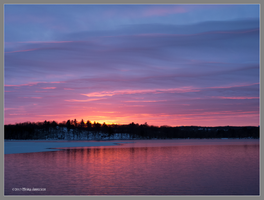 Winters end sunset by Mogrianne
