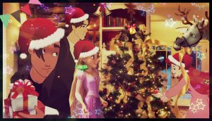 Christmas with cartoons! by Venus-Mike-Adel-Leo