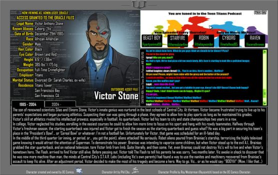 Oracle Files - Victor Stone by Roysovitch