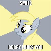 Smile!, Derpy loves you by KirbyDude64