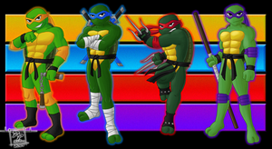 Heroes in a Half Shell--TURTLE POWER! by CyborgBeefJerky