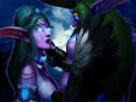 Tyrande and Malfurion by Nyogtha-Art