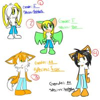 Sonic Adoptables 3 +Closed+ by fansonic